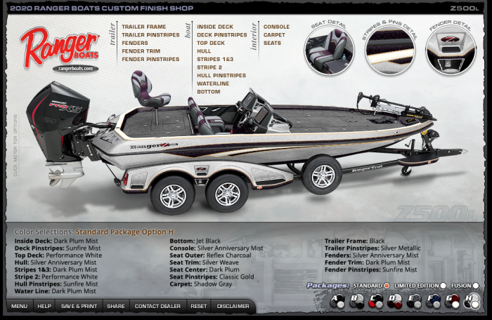 RANGER BOATS COLOR PACKAGE 17種類